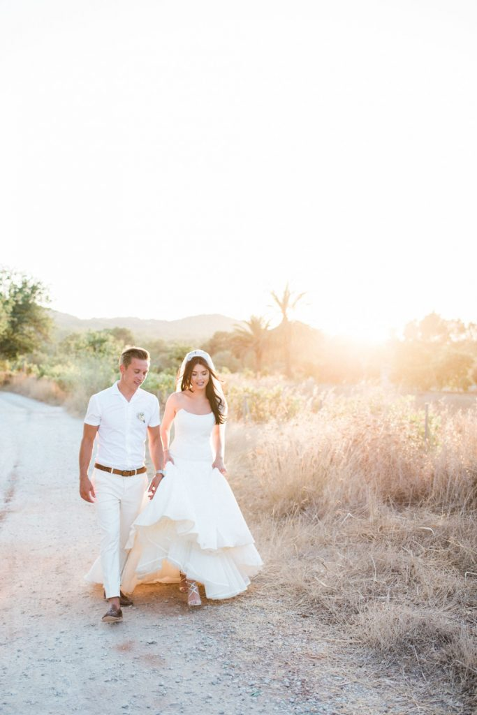 Beautiful couple at Can Gall. Wedding photography by Masha Kart